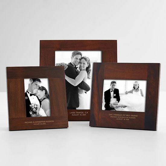 a personalized frame - perfect for holding their favourite wedding photo!