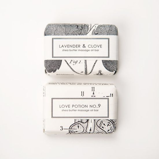 Pretty packaging for soaps.