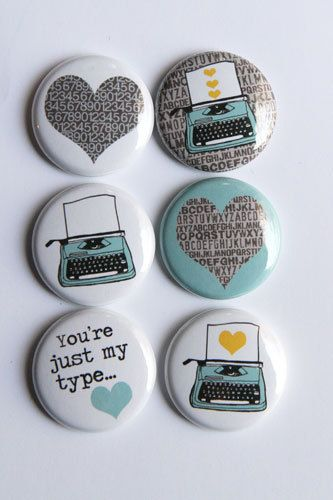 Super cute flair/buttons for Project Life. From etsy $6.00