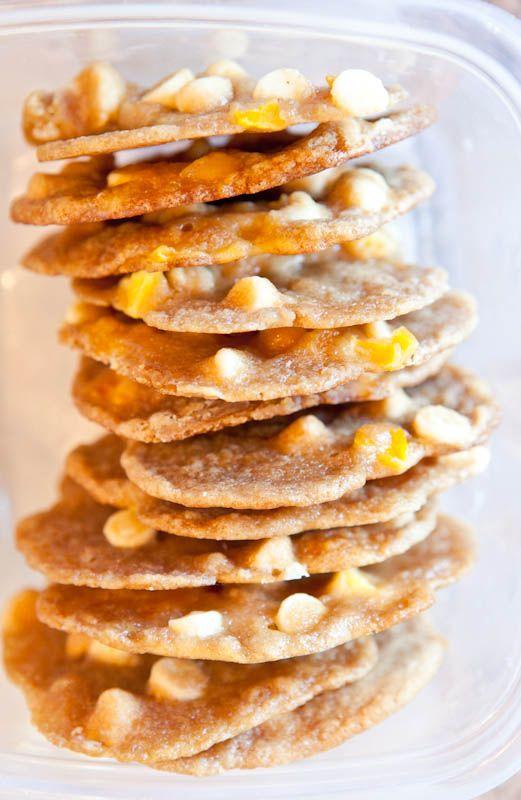 Mango & White Chocolate Chip Cookies