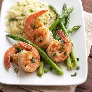 Sauteed Shrimp and Asparagus
