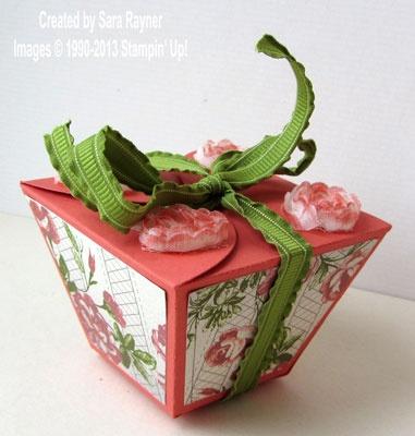 Petal cone box - Stampin' Up!