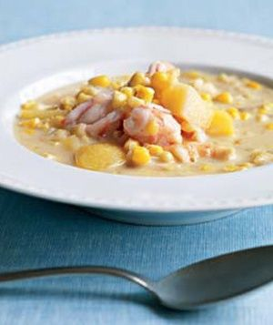 Coconut, Shrimp, and Corn Chowder- I've been making this delicious recipe for years!