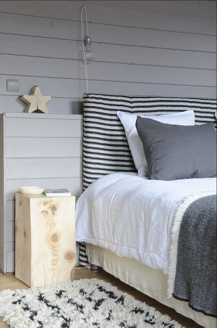 Living Agency {gray and white bedroom}