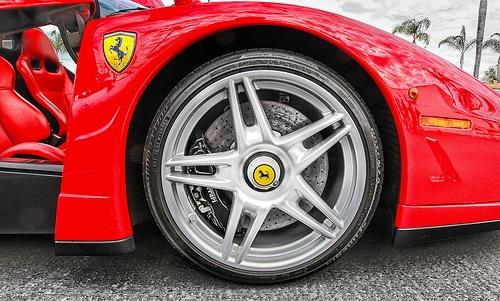 Ferrari Enzo Wheel Detail - Hot Italian Super Luxury Sports Car