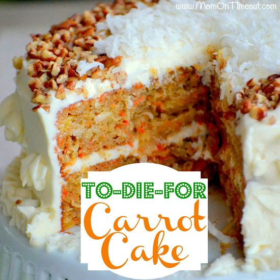 To-Die-For Carrot Cake from MomOnTimeout.com