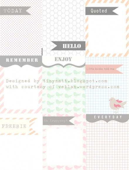 3 x 4 journaling cards