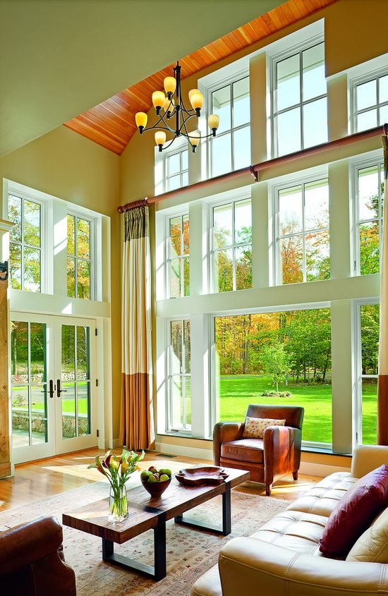Gorgeous Living Room with Amazing Windows & Glass Doors!