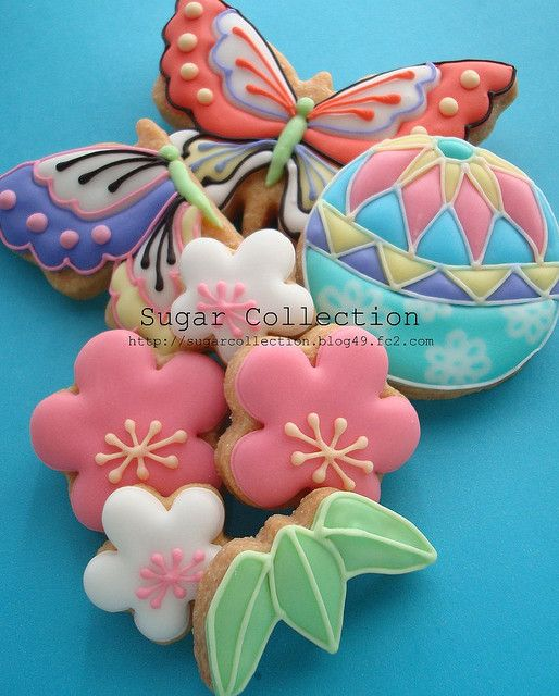Gorgeous! Japanese style cookies by JILL's Sugar Collection, via Flickr