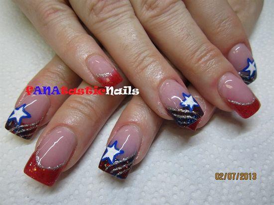 Stars And Stripes! by fANAtasticNails - Nail Art Gallery nailartgallery.na... by Nails Magazine www.nailsmag.com #nailart