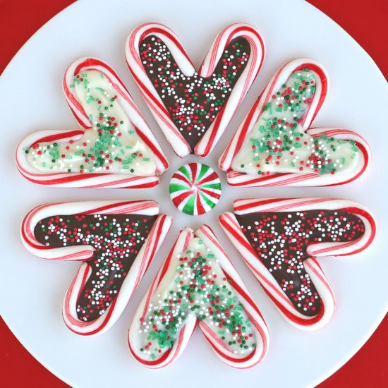 Glorious Treats » Candy Cane Hearts