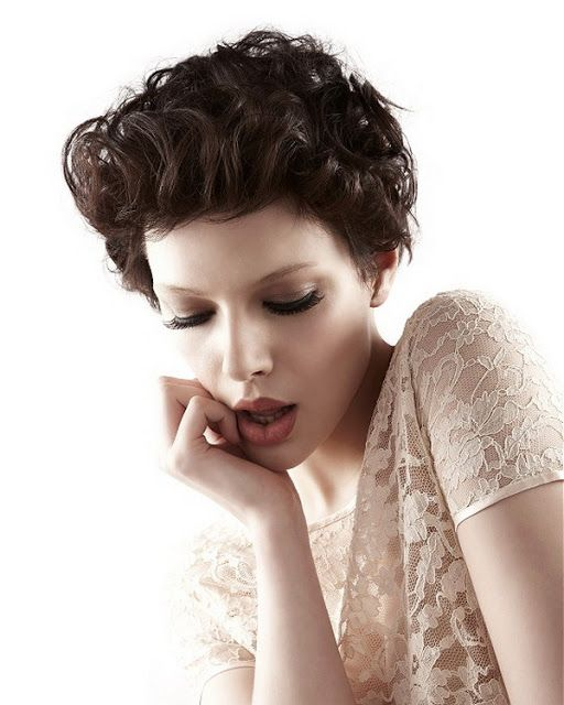 Very short wedding hair style