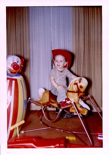 1960s vintage Hobby Horse & Bozo The Clown Punching Bag