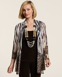 Travelers Collection Ombre Animal Hannah Jacket #chicos