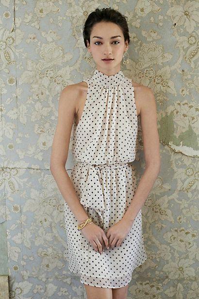 Anthropologie high neck dress
