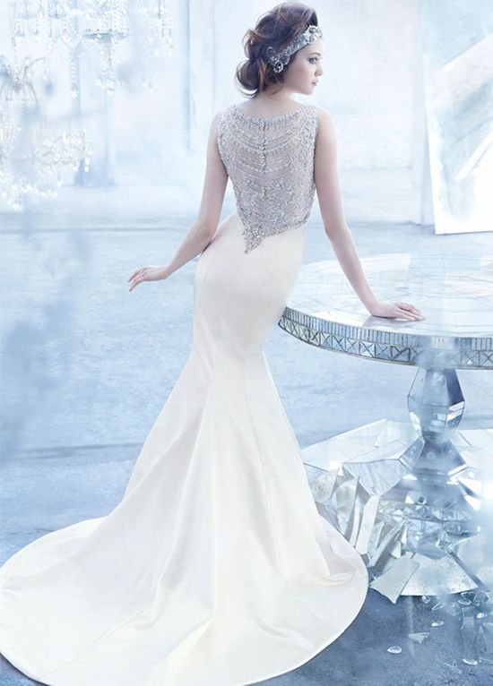 THE BACK... LOVE. Lazaro Fall 2013 Bridal Gown Collection via Belle The Magazine