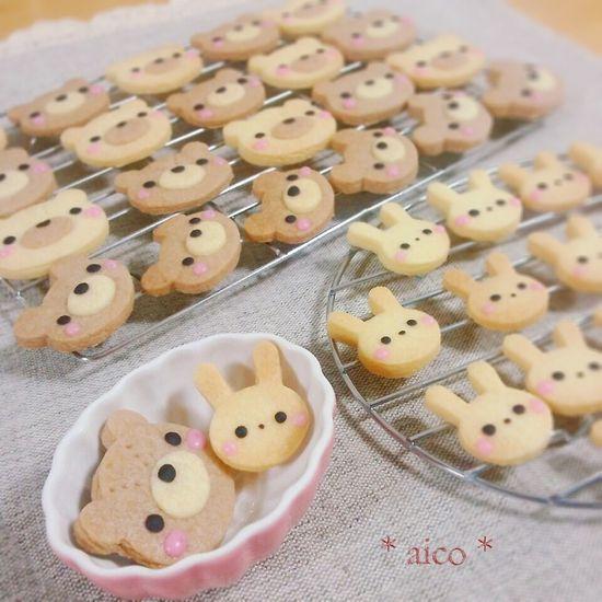 Bear & rabbit cookies