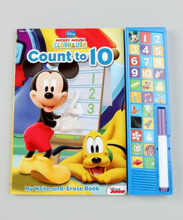 Take a look at this Mickey Mouse Count to 10 Write & Wipe Hardcover & Pen by Disney on #zulily today!