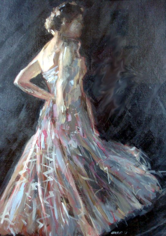 "Saatchi Online Artist: William Oxer; Acrylic, Painting ""The Muse"""