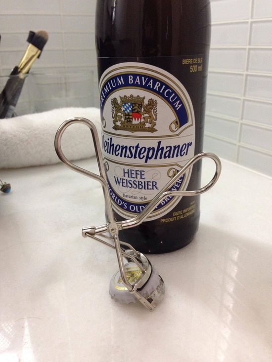 Life-Changing Tip Of The Day: You Can Use Your Eyelash Curler As A Bottle Opener