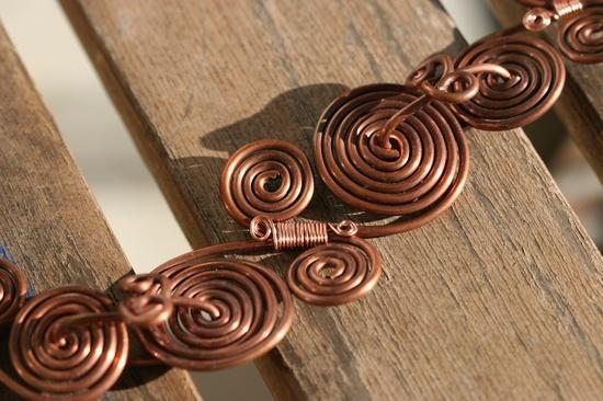 Copper bracelet - wire wrapped jewelry handmade copper jewelry copper wire bracelet - copper wire jewelry - copper bracelet cuff. $35.00, via Etsy.