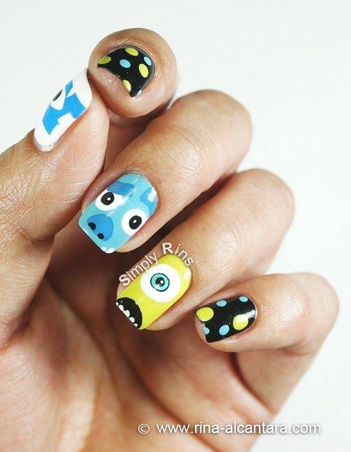Monsters University Nail Art Design