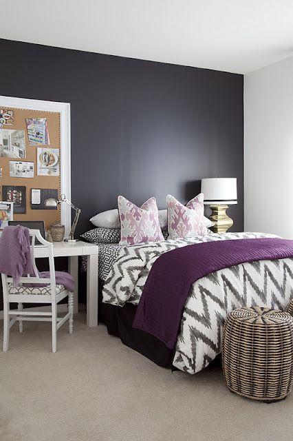 Purple and grey.