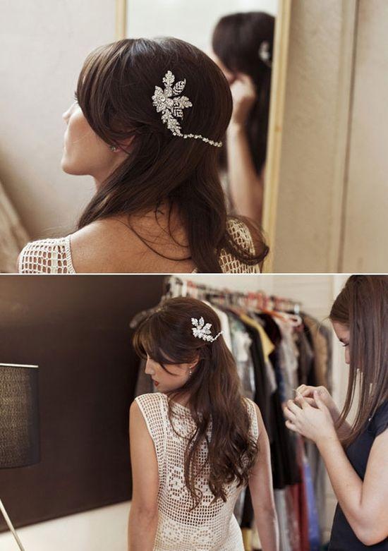 Wedding Hairpiece ideas #wedding #hairpiece #hairstyles