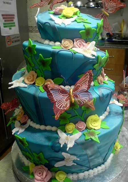Another butterfly cake but in Blue.