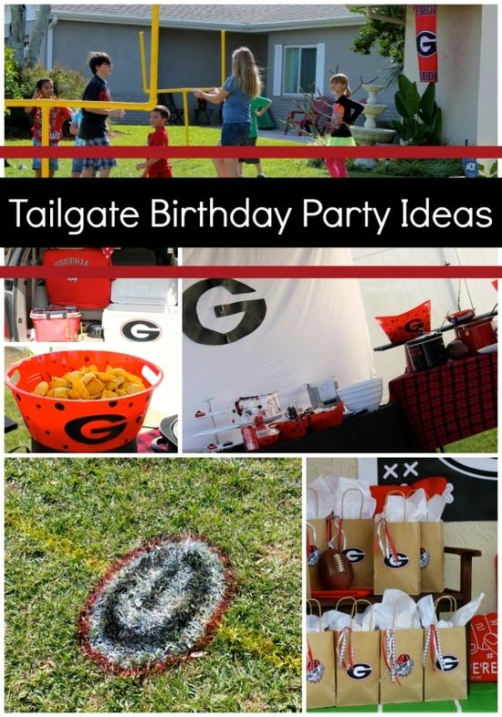 Tailgate Football Birthday Party Ideas www.spaceshipsand...