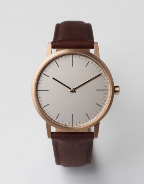 152 PVD ROSE GOLD & WALNUT by Uniform Wares