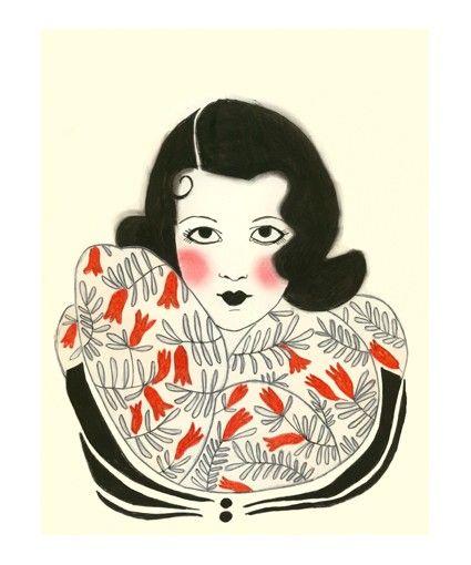 Fashion Illustration  Tenacity is my Secret    4 by matouenpeluche, $6.50