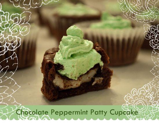 Chocolate York Peppermint Patty Cupcake Recipe! #cupcake #recipes