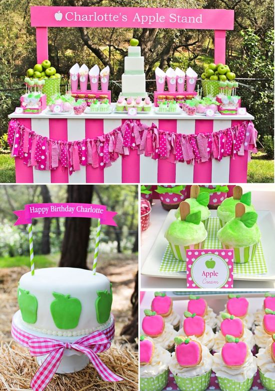 Apple of my eye themed birthday party via Kara's Party Ideas karaspartyideas.com #apple #girl #themed #birthday #party