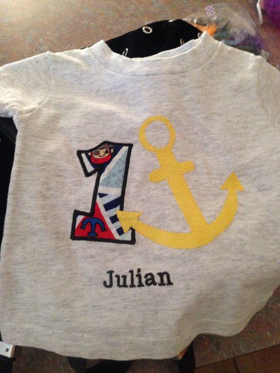 Julian 1st birthday cake shot t shirt