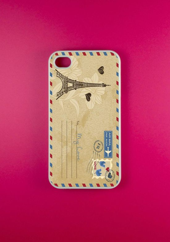 iPhone 4 Case - Postcard Iphone Case, iPhone 4s  This is like too cute