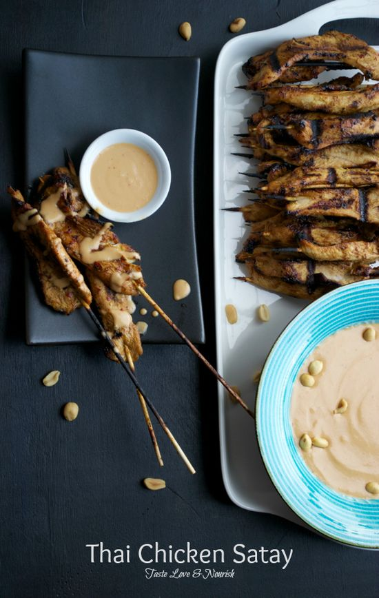 This is the most flavorful Chicken Satay recipe ever!  You will be passing this recipe out to everyone! #Chicken #Satay