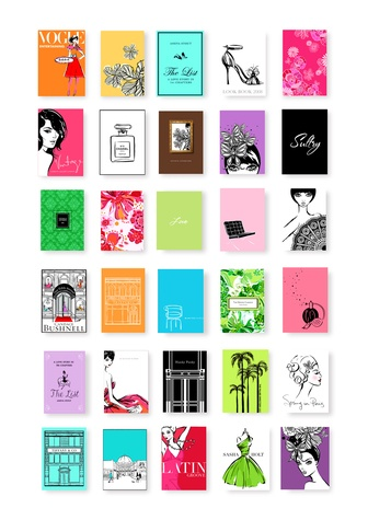 Book covers by Megan Hess.