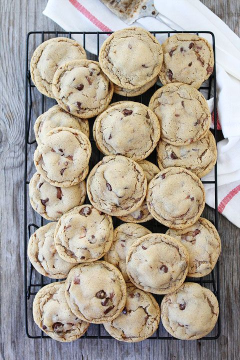 Malted Chocolate Chip Whopper Cookies from twopeasandtheirpo... #recipe #cookies