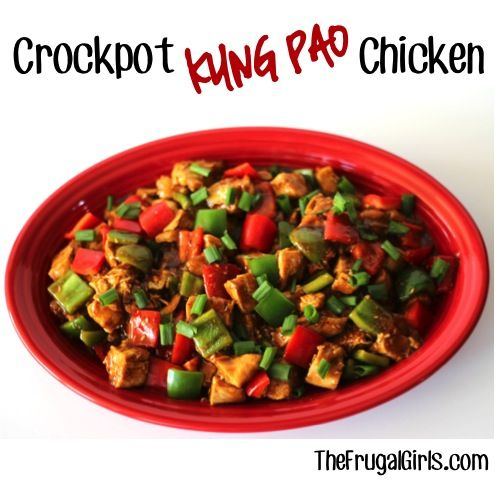 Crockpot Kung Pao Chicken Recipe! ~ from TheFrugalGirls.com {this simple and delicious dish is full of sauce, spice, heat, and zing!} #crockpot #chicken #recipes