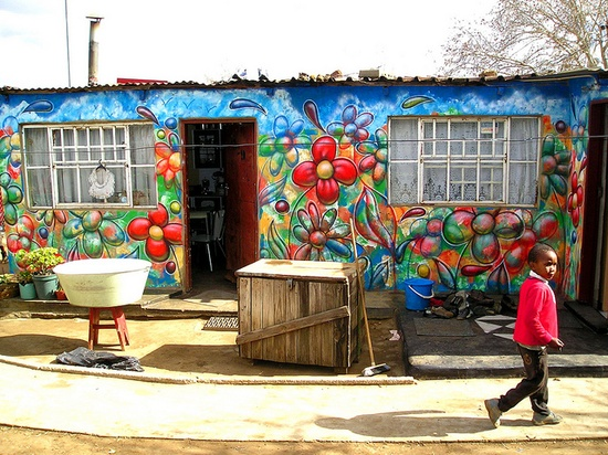 flower street art graffiti flowers soweto