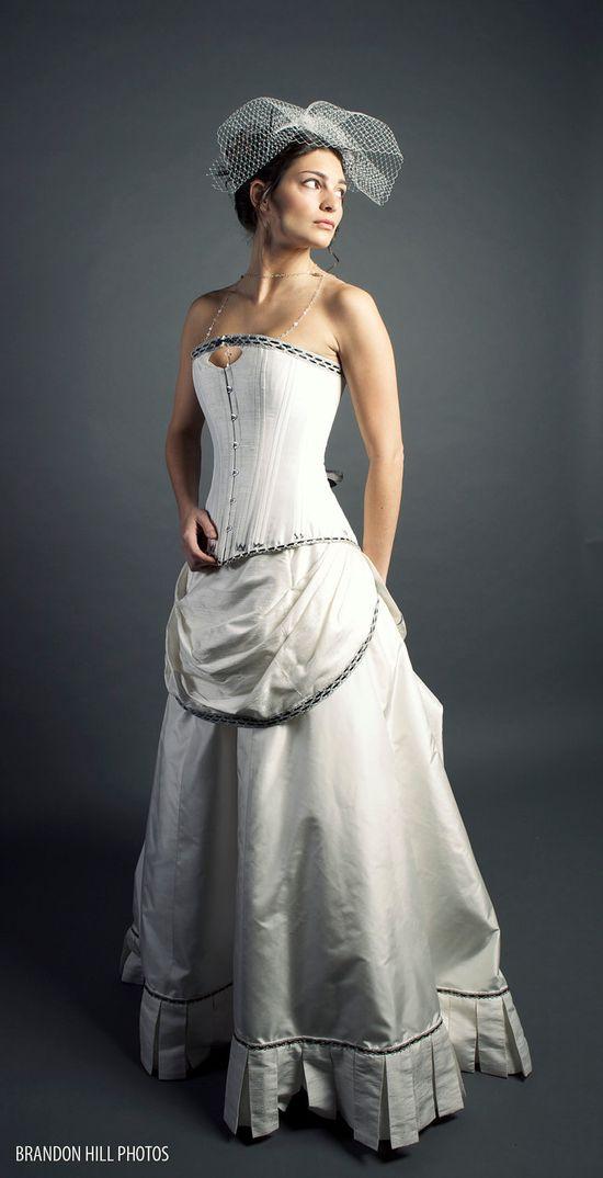 Steampunk Wedding Dress. $2,600.00, via Etsy.