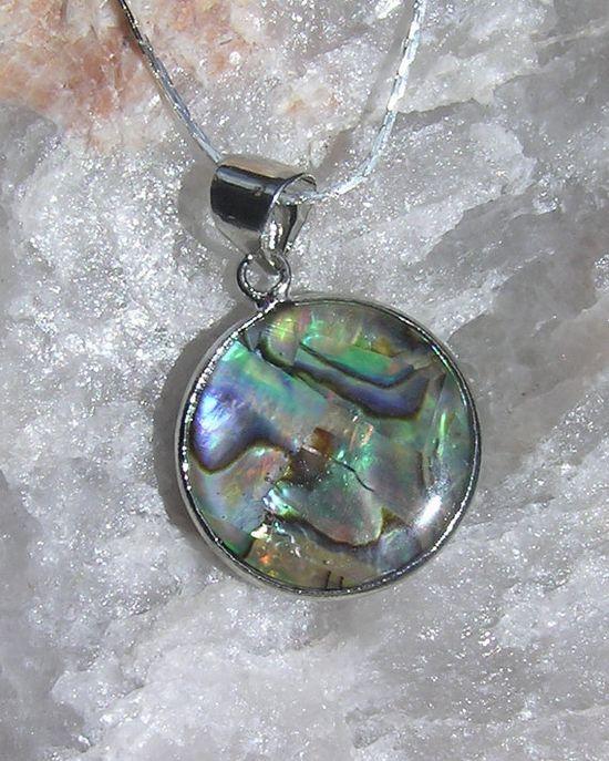 Paua Shell Abalone Pendant  Sterling Silver by SunnyCrystals, £8.75 #jewellery #jewelry #pendant #shell #abalone #paua