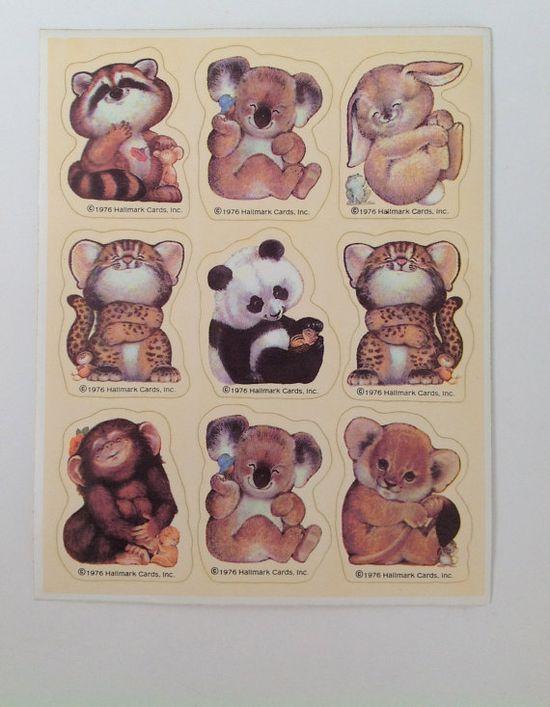 Vintage Hallmark Baby Animal Sticker  1976 by WhileSJsSleeping, $8.00