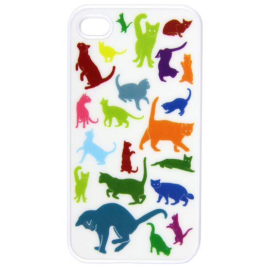 Colorful Cats iPhone case.