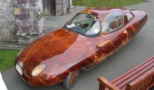 Wood Car via chromjuwelen: Wooden car for big kids. #Car #Wood Nothing short of amazing!
