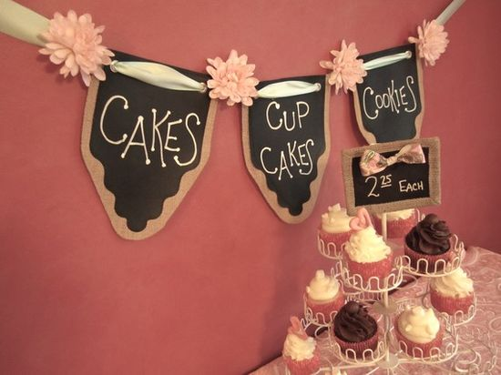 Chalkboard Fabric Banners