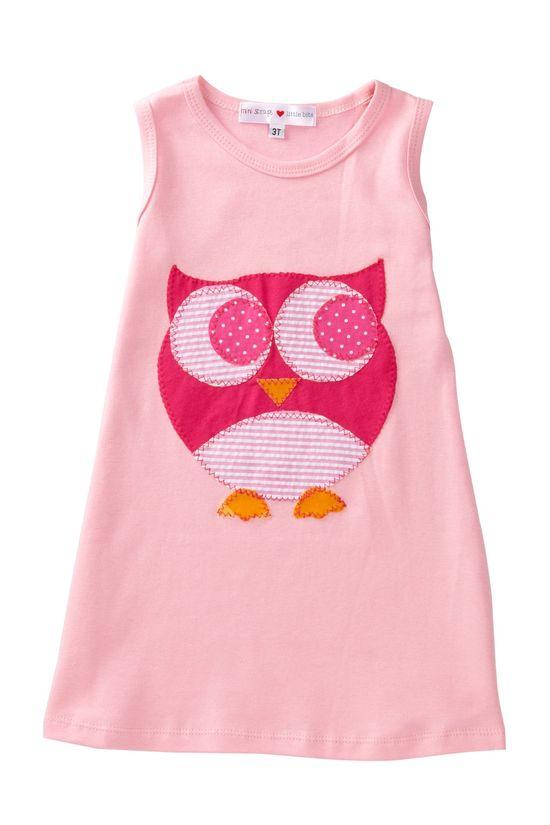 Mini Scraps Owl Dress - use outgrown baby clothes as scraps.  :)