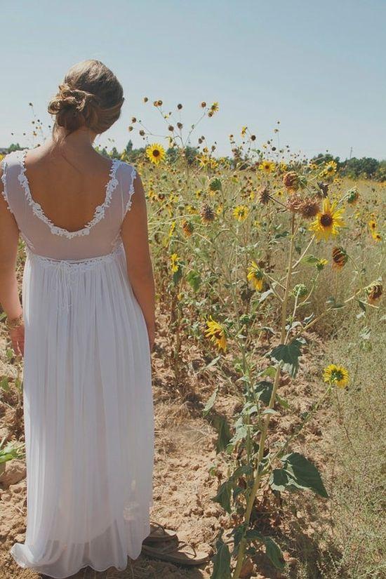 hippie wedding dress by LeighV