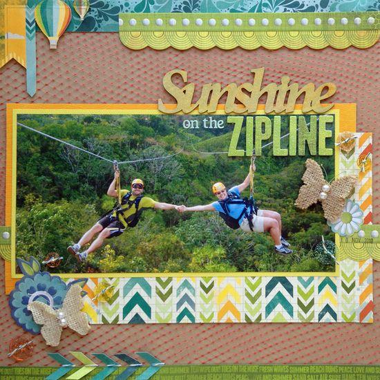 Sunshine On The Zipline - Scrapbook.com